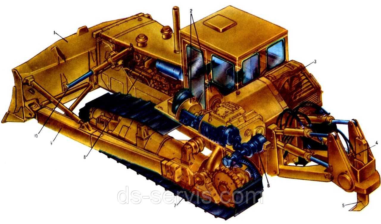 Установка отопителя кабины (Т-130) 50-47-3СП
