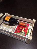 Деревянная коробочка под подарок 33*24*9 см., без крышки