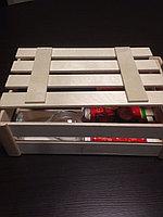 Деревянная коробочка под подарок с крышкой 33*24*9 см