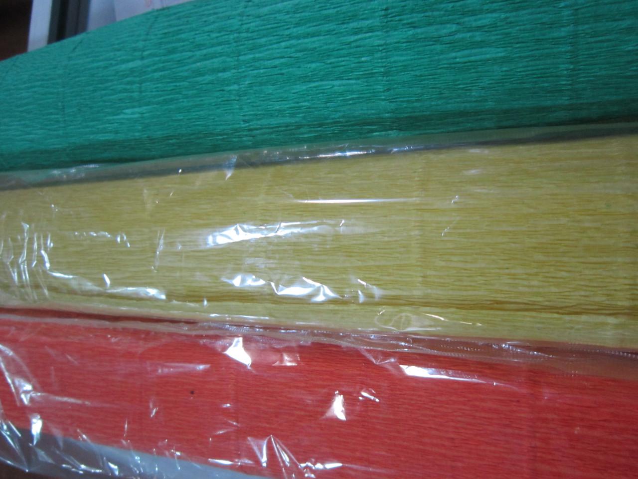 Бумага гофрированная, цвета разные