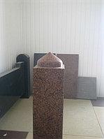 Столб гранитный резной, вверх в виде купола, фото 1