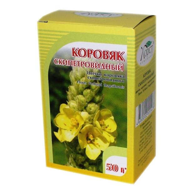 Коровяк скипетровидный, цветки, 50гр