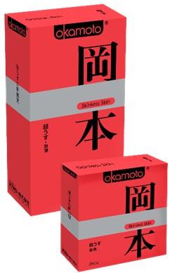 "ПРЕЗЕРВАТИВЫ ""OKAMOTO SKINLESS SKIN"" SUPER THIN  №3 (ультра-тонкая классика)"