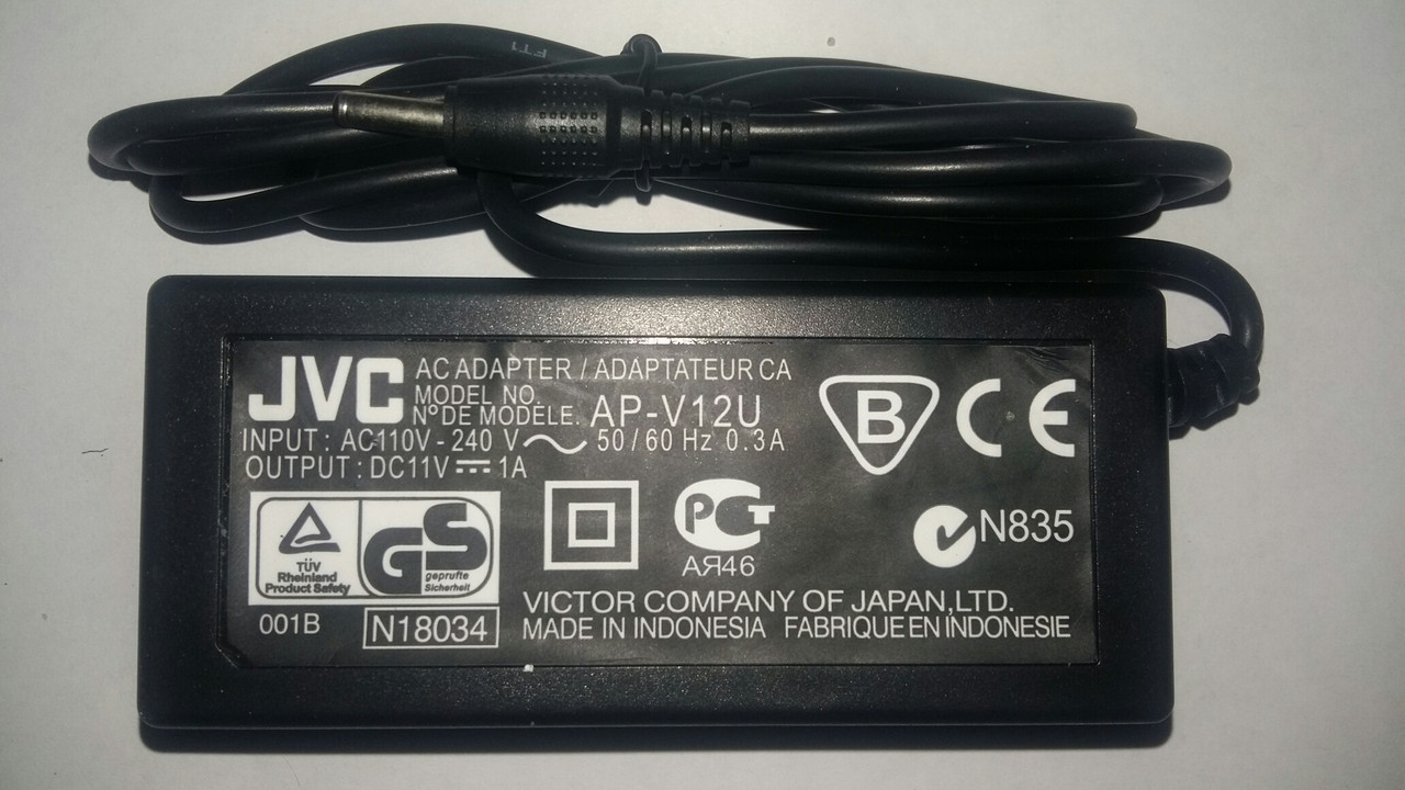 Блок питания Jvc Ac-V15V (круглый штекер)