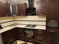 Кухня из МДФ в темном цвете