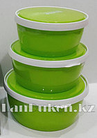 Контейнер для еды Homio Rectangle Food container 3 в 1 (зеленый)