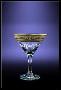 Набор бокалов для мартини с рисунком Русский узор 6шт