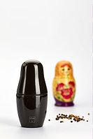 Перечница мельница для специй, соли и перца Bisetti MATRYOSHKA design by Adam + Harborth / 2010, цвет черный, фото 1