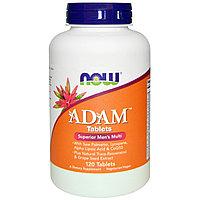 Now Foods, Adam, лучшие мультивитамины для мужчин, 120 таблеток по 1 в день.