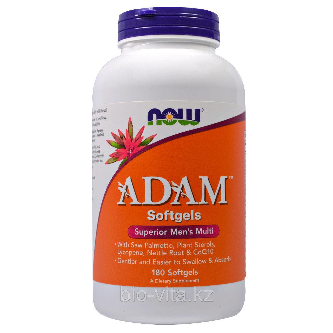 Now Foods, ADAM, мужской поливитамин высшего класса, 180 капсул по 2 в день.