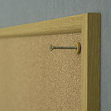 Доска пробковая в раме MDF 45х60 см 2x3 (Польша), фото 2
