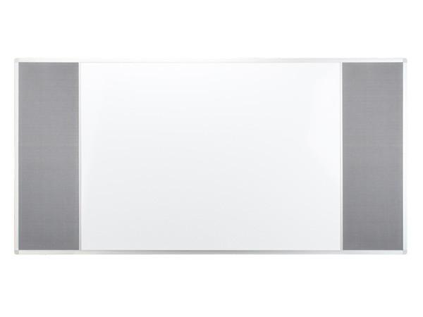 Доска COMBI трехсекционная pinmag/маркерная магнитная/pinmag 120х90см UKF 2x3 (Польша)