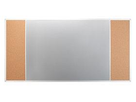 Доска COMBI трехсекционная пробковая/маркерная магнитная/ пробковая 120х90см UKF 2x3 (Польша)