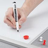 Доска COMBI трехсекционная pinmag/маркерная магнитная/pinmag 120х90см UKF 2x3 (Польша), фото 4