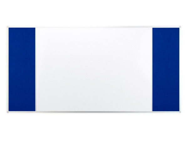 Доска COMBI трехсекционная текстильная/маркерная магнитная/текстильная 120х90см UKF 2x3 (Польша)