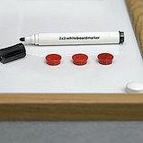 Доска маркерная магнитная в раме MDF 90*60см 2x3 (Польша), фото 2