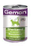 Gemon Sterilized 415г кусочки Кролика для стерилизованных кошек влажный корм, фото 1