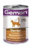 Gemon Cat senior влажный корм для пожилых кошек Курица и индейка кусочками, 415г, фото 1