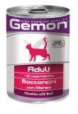 Gemon Adult 415г с кусочками Говядины влажный корм для кошек