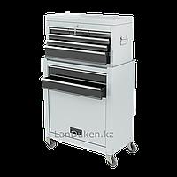 Инструментальный шкаф 2-секционный 600х260х340 мм, 616х330х658 мм 14 ящиков MATRIX 906605 (002)