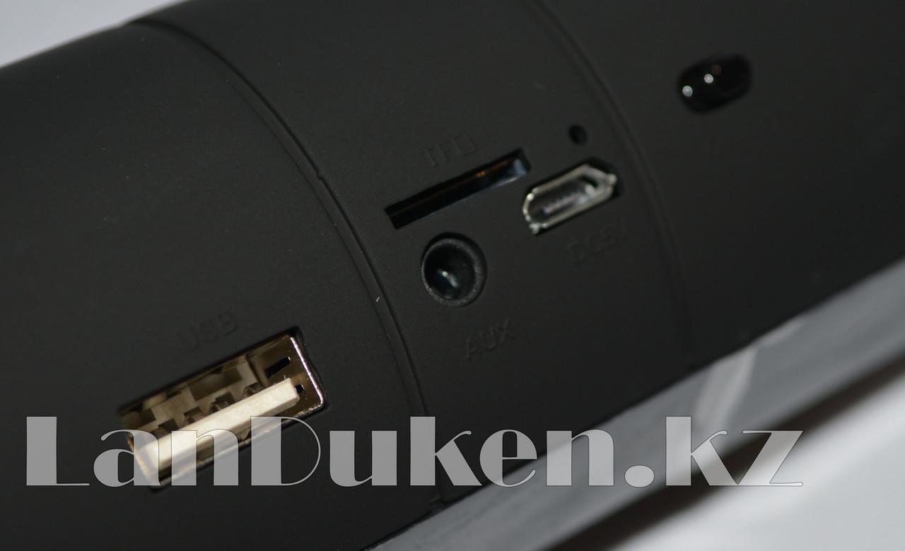 Колонка беспроводная стерео bluetooth-спикер для смартфонов и портативных пк (черная) - фото 4