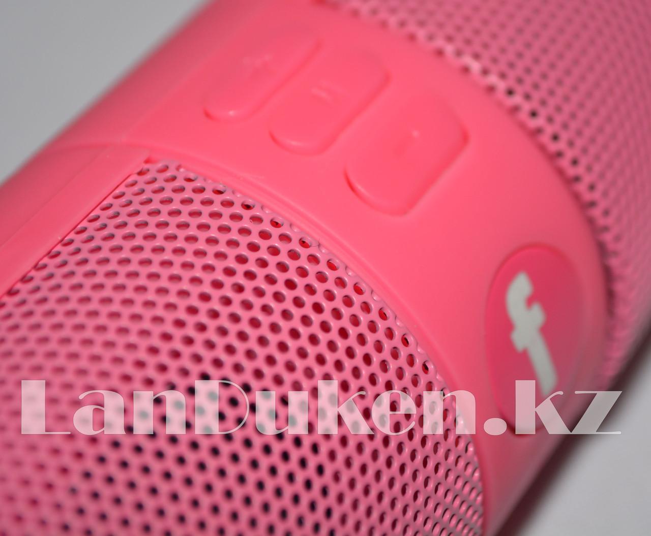 Колонка беспроводная стерео bluetooth-спикер для смартфонов и портативных пк (розовая) - фото 4