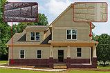 Акриловая Фасадная панель STONE HOUSE (Стоун Хаус) под камень и кирпич, цвет: Кирпич-Графитовый, фото 2