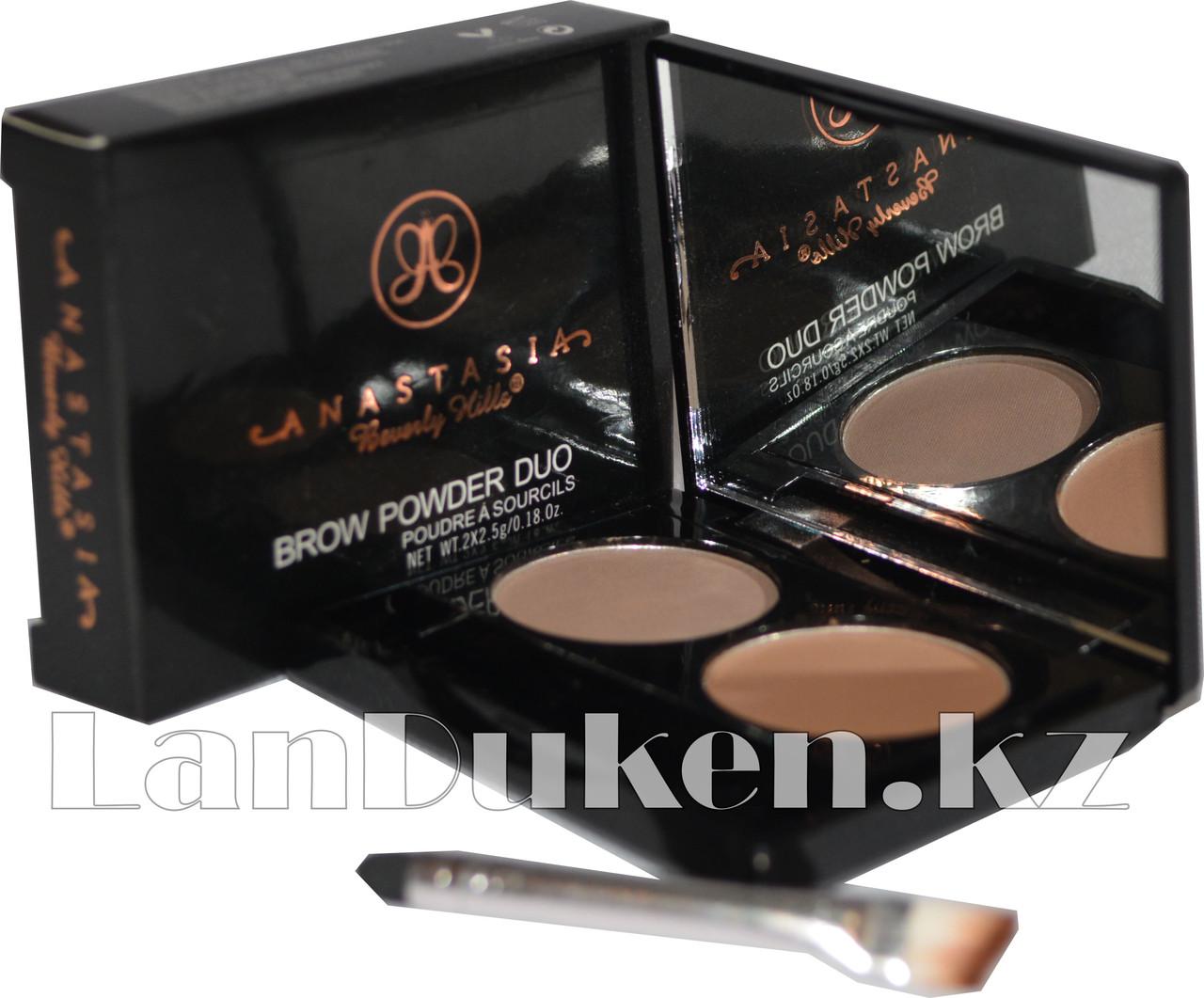 Матовые тени мини для век и бровей Anastasia Beverly Hills Brow Powder Duo (03) - фото 1