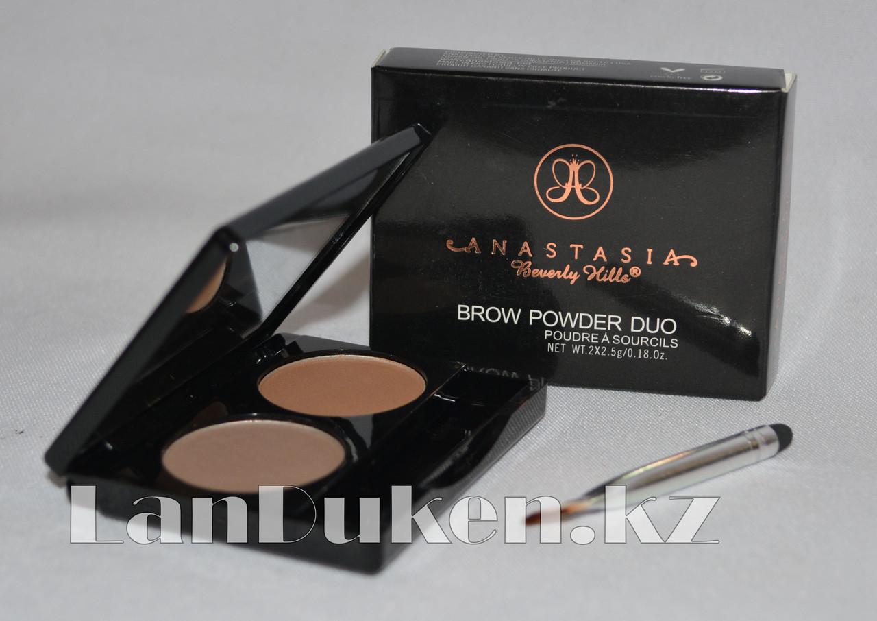 Матовые тени мини для век и бровей Anastasia Beverly Hills Brow Powder Duo (03) - фото 2