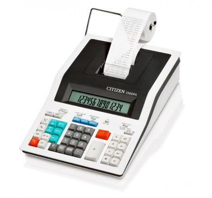 Калькулятор с печатью 14 разрядов, лента 57мм, белый Citizen
