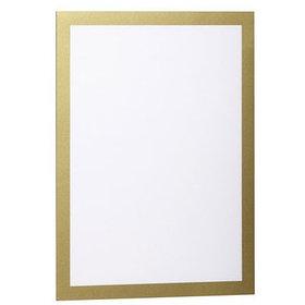 Рамка магнитная, А4, самоклеющаяся, золотая Durable