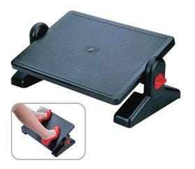 Подставка для ног, 415x300мм, эргономичная, пластик, черная Aidata