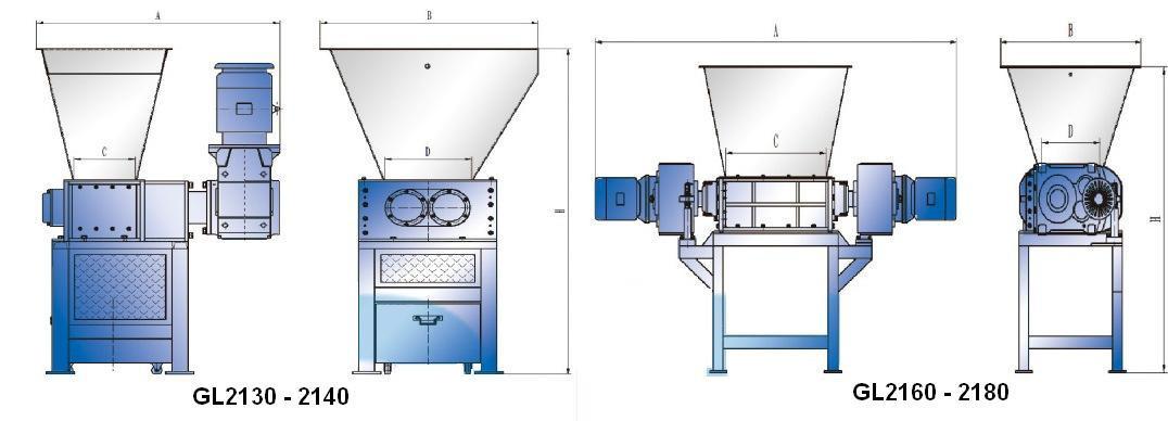 Шредер двухвальный GL40160 (3E)