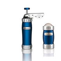 Marcato Pack Blu Biscuits + Dispenser (2 в 1) пресс для печенья и сито, цвет синий, фото 1
