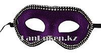 Венецианская маска Коломбина фиолетовая (бархатная)