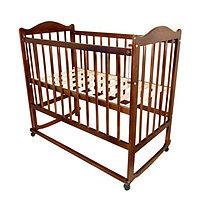 Детская кроватка Мой малыш 05 орех с накладкой, фото 1