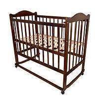 Детская кроватка Мой малыш темный 05 с накладкой, фото 1