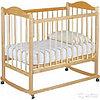Детская кроватка Мой малыш 05 светлый с накладкой