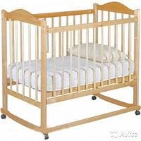 Детская кроватка Мой малыш 05 светлый с накладкой, фото 1