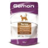 Gemon Senior в паучах для пожилых кошек с индейкой 100 гр