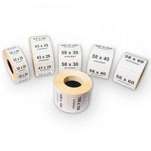Этикетки термотрансферные Термотрансферная этикетка 58 60 40 (400эт) Полуглянец
