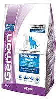 Gemon Medium Adult 3кг Тунец сухой корм для средних пород собак