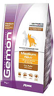 Gemon Medium Adult 15кг Курица сухой корм для взрослых собак средних пород