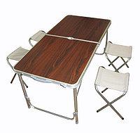Стол складной туристический для пикника со стульями 4 шт. (120x60x70/55 см), фото 1