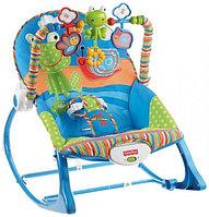 "Детский шезлонг, кресло-качалка Fisher Price ""Лягушка"", фото 1"