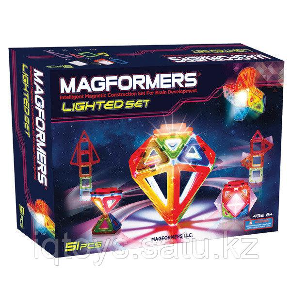 Магнитный конструктор Magformers Lighted Set (55 деталей)