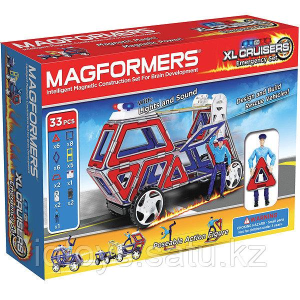 Магнитный конструктор Magformers XL Cruisers Служба спасения (33 деталей)