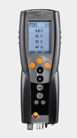 Testo Газоанализатор Testo 340, в комплекте с аккумуляторами, протоколом калибровки и ремнем для переноски
