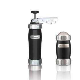 Marcato Pack Nero Biscuits + Dispenser (2 в 1) пресс для печенья и сито, цвет черный