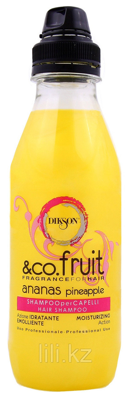 """Увлажняющий и витаминизирующий шампунь """"Ананас"""" Dikson Co.Fruit & Co.Flower Pineapple 500 мл."""